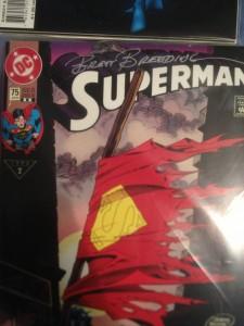 Brett Breeding signed my copy of Superman 75